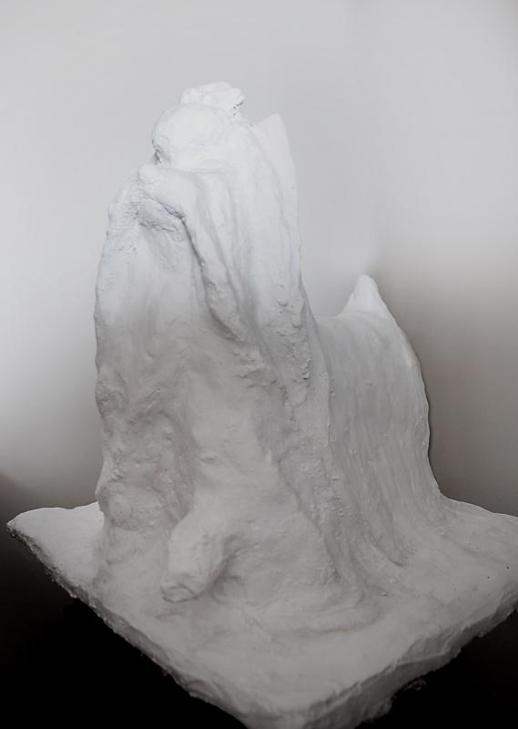 Rzeźba Yorkshire Terrier Odlew Gipsowy